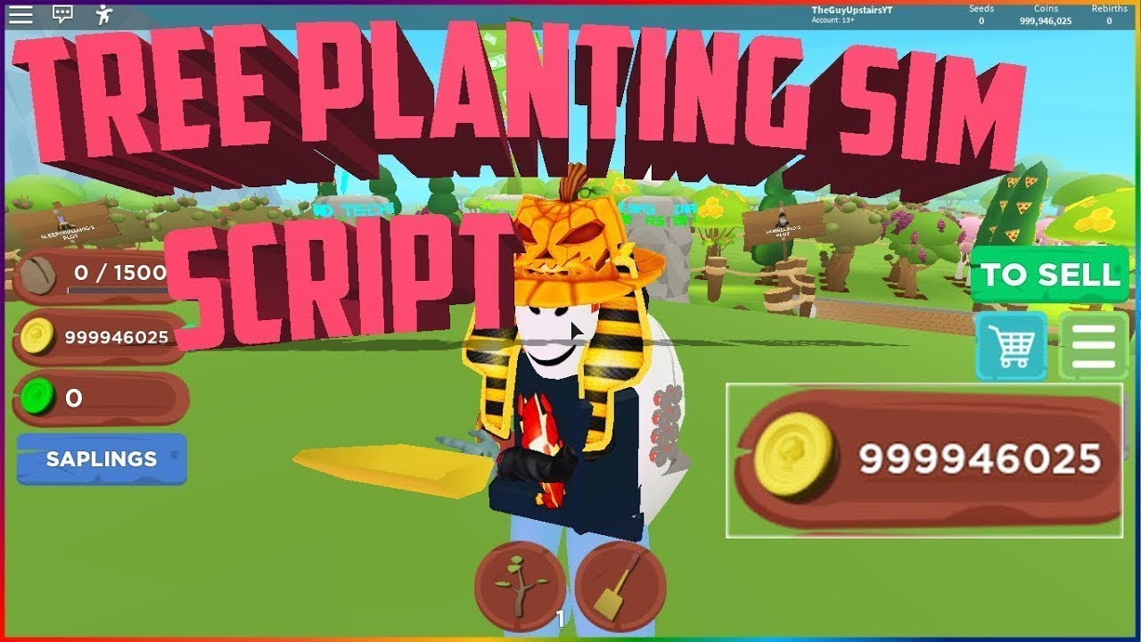 Op Roblox Script Tree Planting Simulator Unlimited Coins