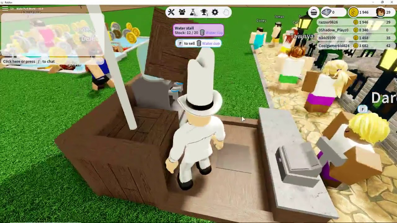 Roblox Water Park Background Roblox Water Park World Tycoon Playing For The First Time