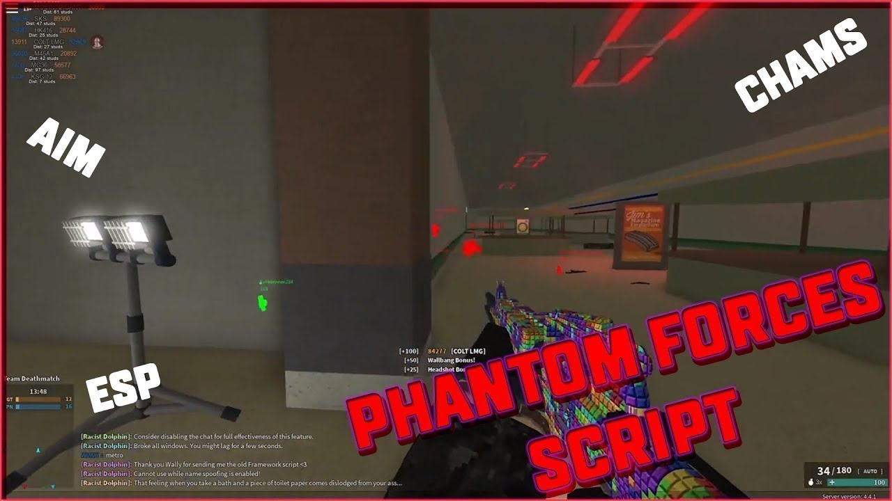 New Roblox Phantom Forces Script Wallhack Aimbot Esp