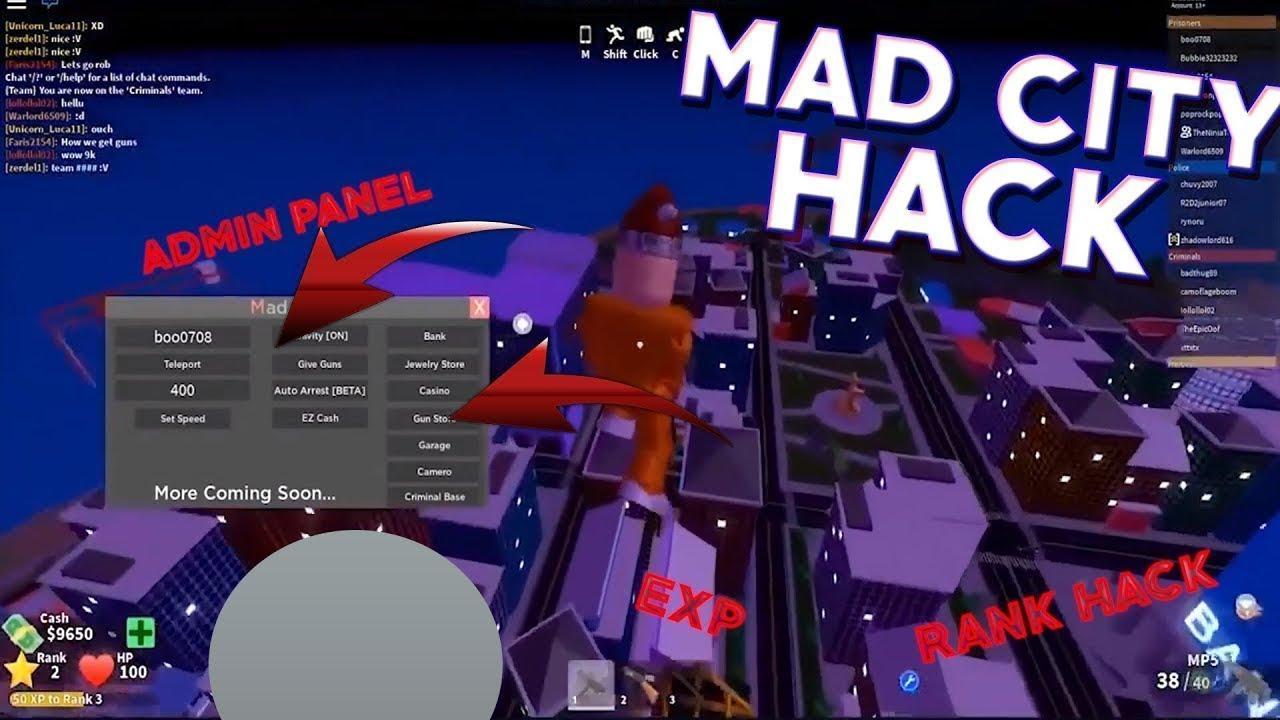 Best Roblox Mad City Script Max Level Youtube Mad City Script Noclip Autofarm Cash Auto Arrest Teleport Max Lvl