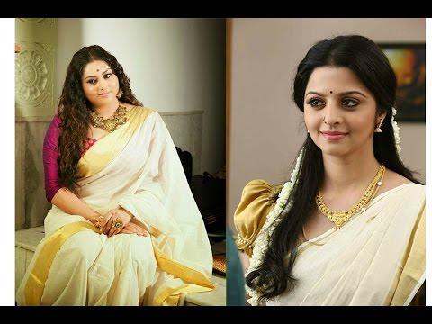 kerala saree nayanthara