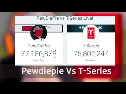 Video Playing Roblox For Pewdiepie Live Sub Count Pewdiepie Vs T Series Live Pewdiepie Vs Tseries Live Youtube Sub Count Race Of