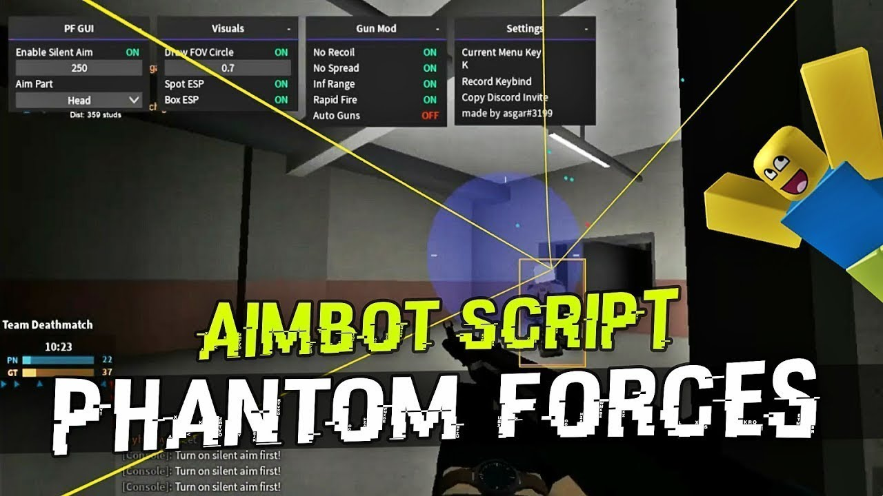 New Phantom Forces Script Unlock All Weapons No Clip Esp And